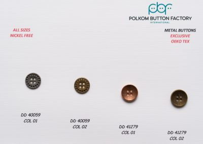 Polkom Metal Buttons 24