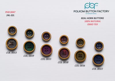 Polkom Real Horn Buttons 04