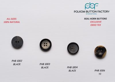 Polkom Real Horn Buttons 08