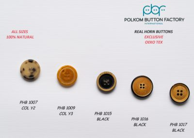 Polkom Real Horn Buttons 10