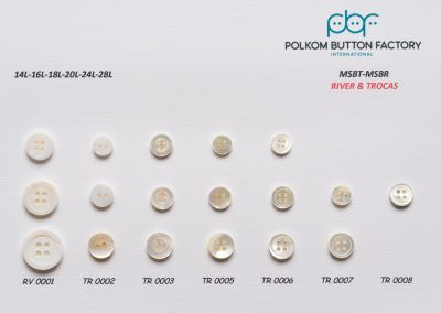 Polkom River and Trocas Shell Buttons